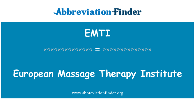 EMTI: European Massage Therapy Institute