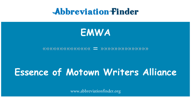 EMWA: Essence of Motown Writers Alliance
