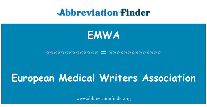 EMWA: European Medical Writers Association