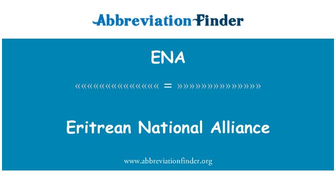 ENA: Eritrean National Alliance