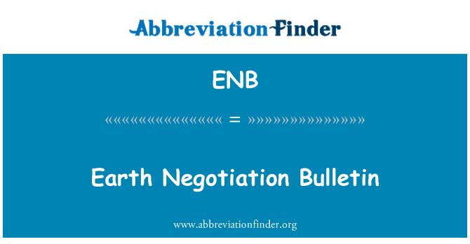 ENB: Earth Negotiation Bulletin