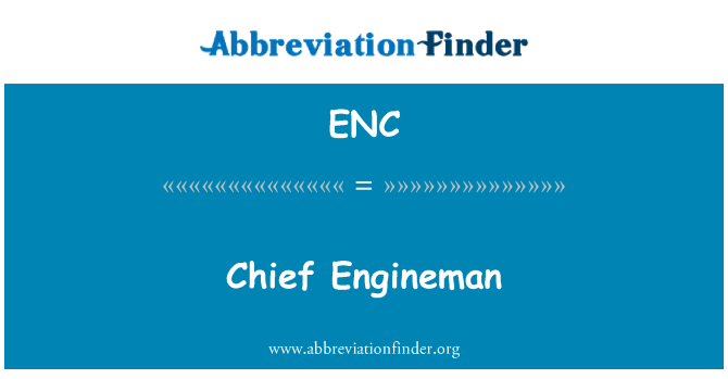 ENC: Chief Engineman
