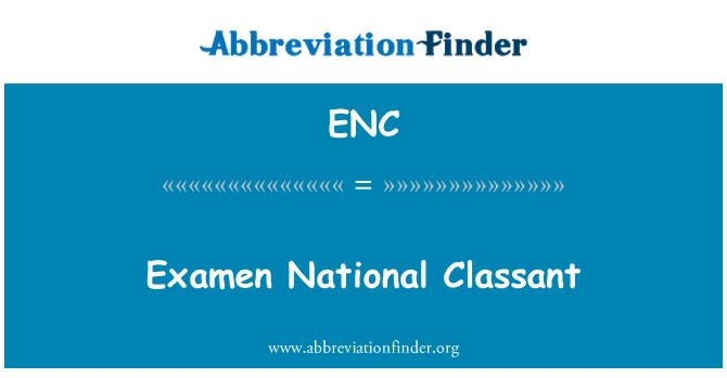ENC: Examen National Classant