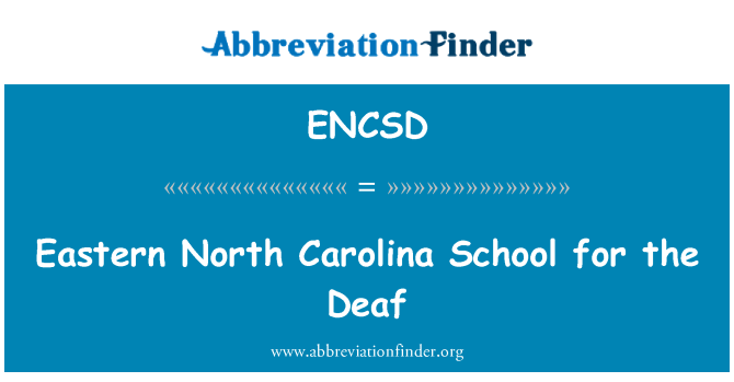 ENCSD: مشرقی شمالی کیرولینا اسکول بہروں کے لئے