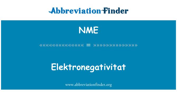 NME: Elektronegativitat