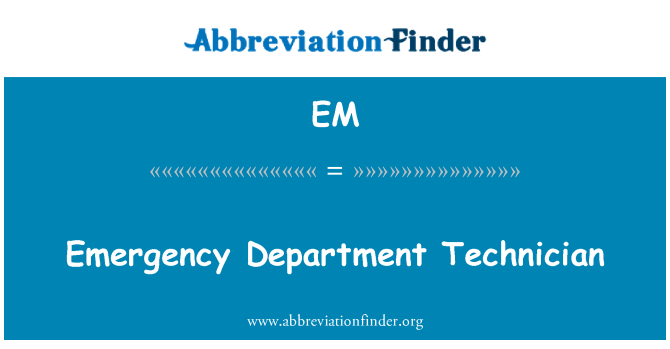 EM: Technika pogotowia