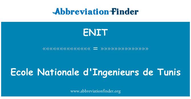 ENIT: Ecole Nationale d ' ingenieurs de Túnez