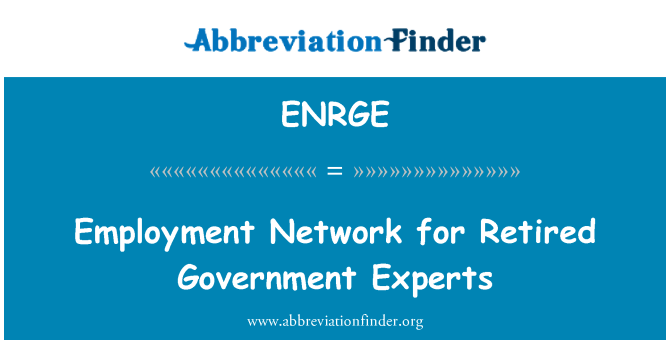 ENRGE: Employment Network for Retired Government Experts