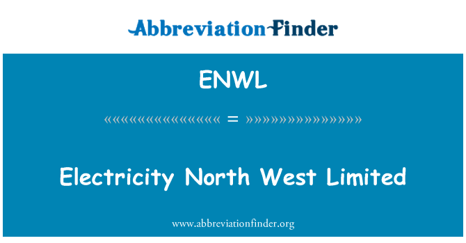 ENWL: Electricity North West Limited