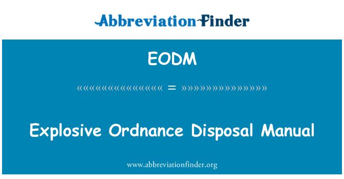 EODM: Manual de eliminación de artefactos explosivos