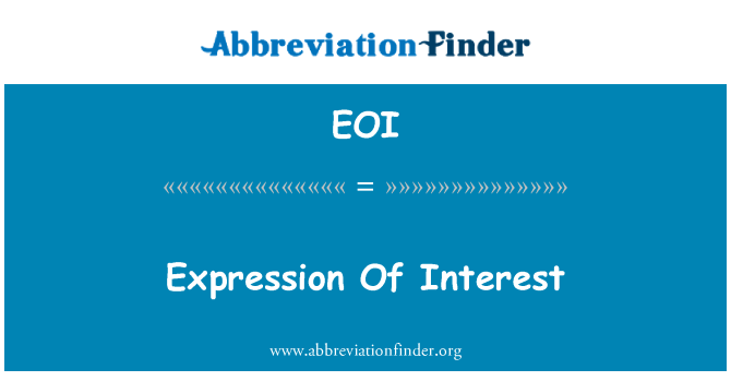 EOI: Expression Of Interest