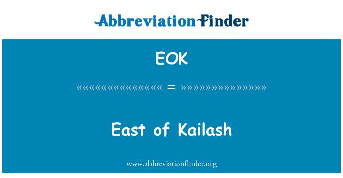 EOK: East of Kailash