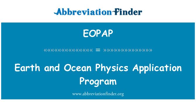 EOPAP: Dünya ve Okyanusu fizik uygulama programı