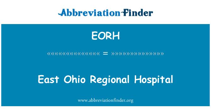 EORH: East Ohio Regional Hospital