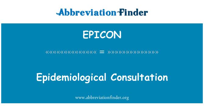 EPICON: Epidemiyolojik istişare