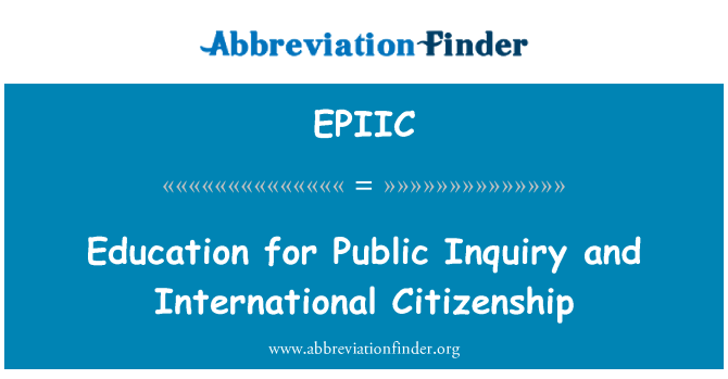 EPIIC: Education for Public Inquiry and International Citizenship