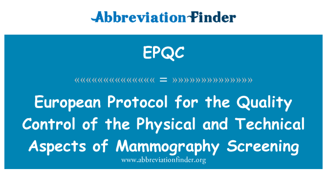quality control in mammography pdf
