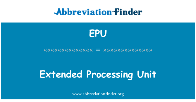 EPU: Extended Processing Unit