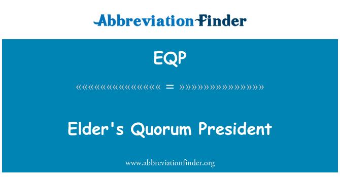 EQP: Vanem on otsustusvõimeline President