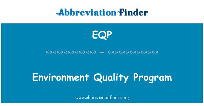 EQP: Çevre kalite programı