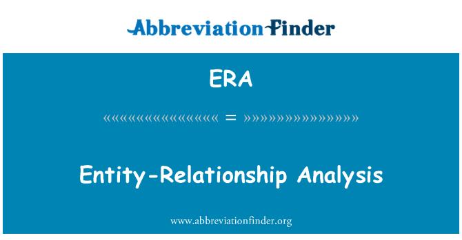 ERA: Entity-Relationship Analysis