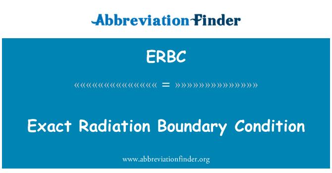 ERBC: Exact Radiation Boundary Condition