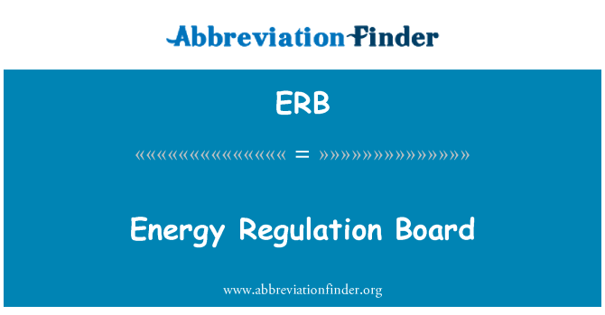 ERB: Energy Regulation Board