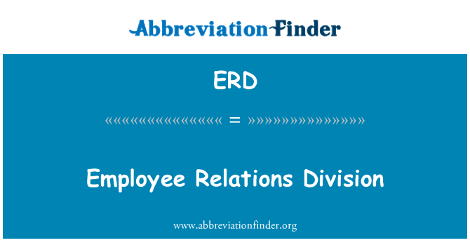 ERD: Employee Relations Division