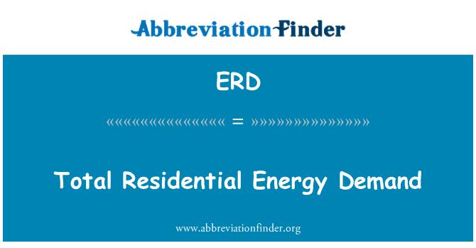 ERD: Total Residential Energy Demand