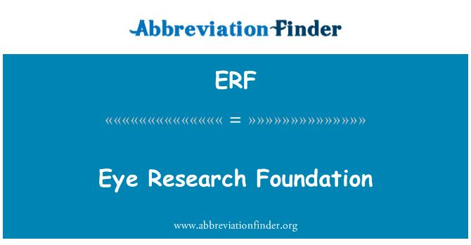 ERF: Eye Research Foundation
