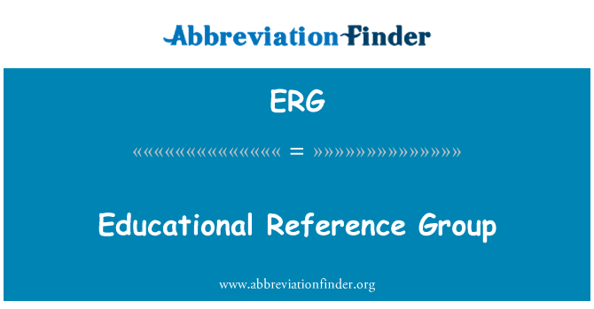 ERG: Educational Reference Group