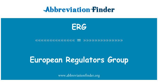 ERG: European Regulators Group