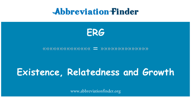 ERG: Existence, Relatedness and Growth