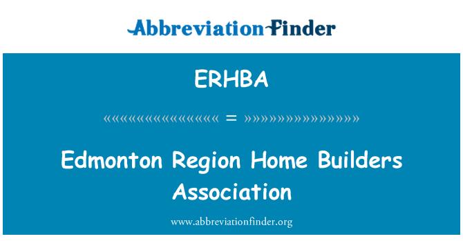 ERHBA: Edmonton Region Home Builders Association
