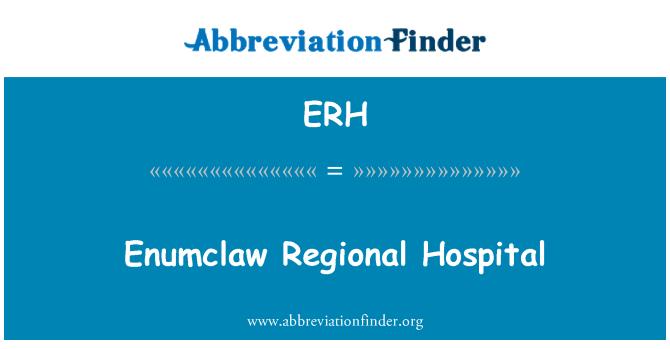 ERH: Enumclaw Regional Hospital