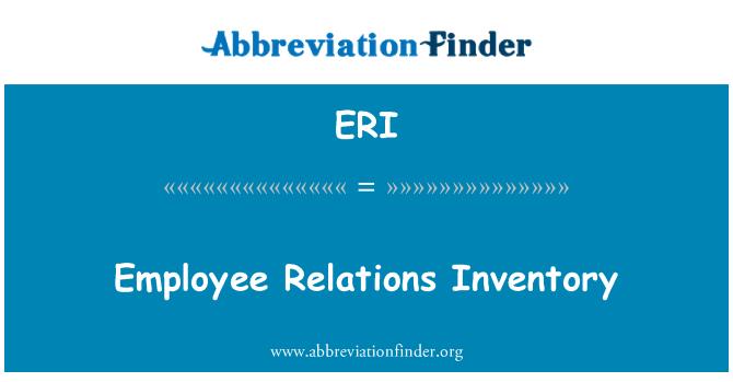 ERI: Employee Relations Inventory