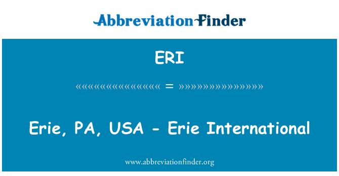 ERI: Erie, PA, USA - Erie International