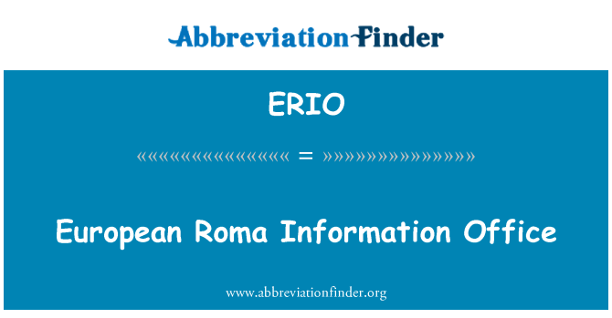 ERIO: European Roma Information Office
