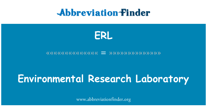ERL: Environmental Research Laboratory