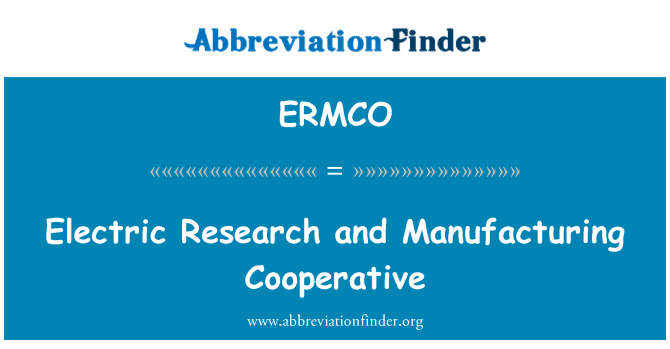 ERMCO: Electric Research and Manufacturing Cooperative