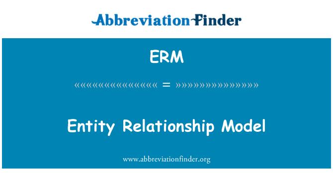 ERM: Entity Relationship Model