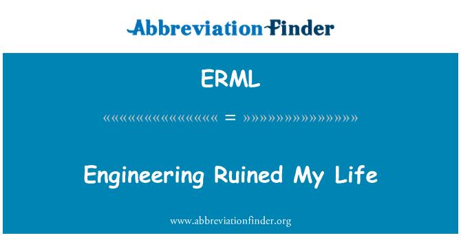 ERML: Engineering Ruined My Life