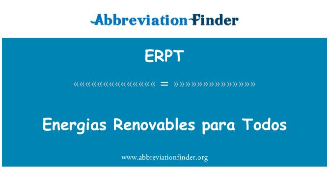 ERPT: Energias Renovables para Todos