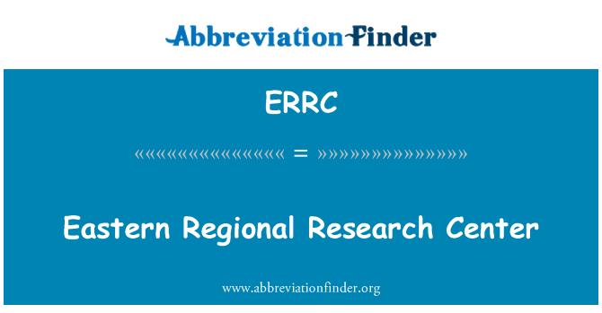 ERRC: Eastern Regional uurimiskeskus