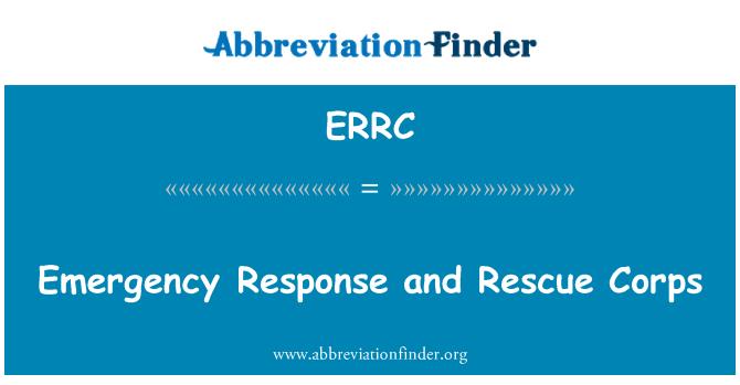 ERRC: Erakorralise seisukorra ja Päästeameti korpuse