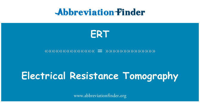 ERT: Electrical Resistance Tomography