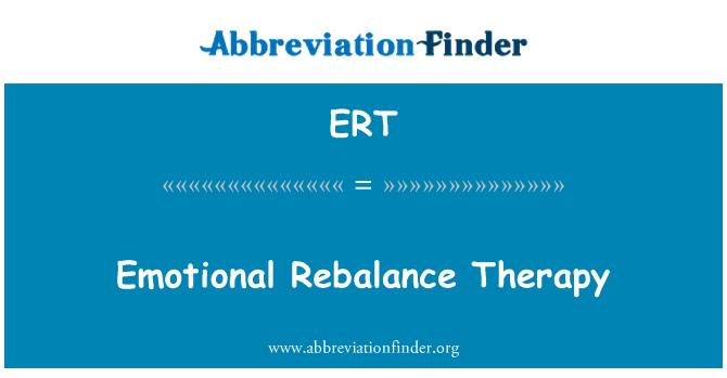 ERT: Emotional Rebalance Therapy