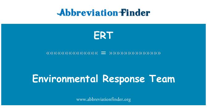 ERT: Environmental Response Team
