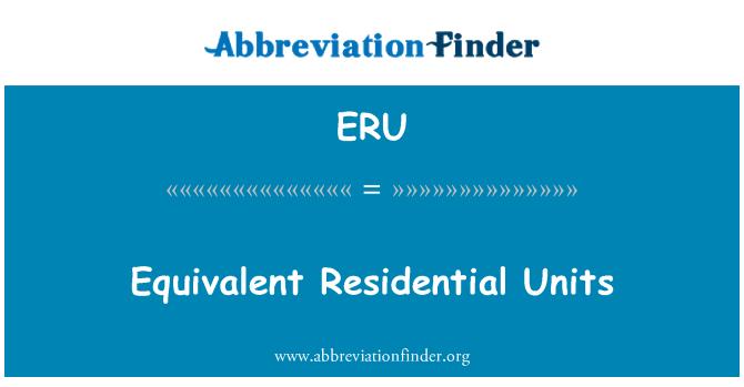 ERU: Equivalent Residential Units
