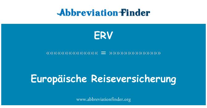 ERV: Europäische Reiseversicherung